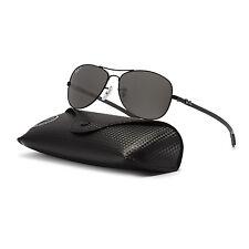 Ray Ban RB 8301 Carbon Fibre Aviator Sunglasses 002/K7 Black Mirrored Polarized