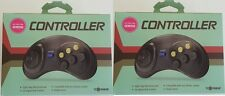 2 NEW Controller Game Control pad for Sega Genesis made by Tomee new in boxes