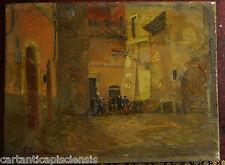 Painting Picture DIPINTO A OLIO SU TAVOLA ROMA VICOLO DELLA LUCE 1937