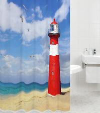 Tenda Doccia Tessile ANTI MUFFA WC vasche da bagno sipario FARO 180 x 180 cm
