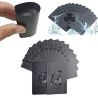 Waterproof Black Diamond Poker Creative Standard Playing Cards Magic Tricks Tool