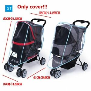 Outdoor Pet Stroller Cover Teddy Puppy Out of The Cart Outer Shade Transparent