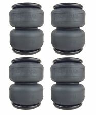 "4 - 2500 air bags 11.5"" tall suspension part 1/2""npt port Titan II air springs"