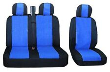 Headrest Covers for Renault Trafic Master Bus Black//Blue LUX 2+1 Front Seat