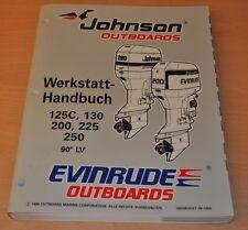 Johnson EVINRUDE EU 90° LV 125- 250 PS 1996 Außenbordmotor Werkstatthandbuch OMC