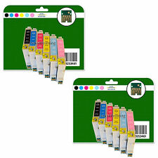 Any 12 Ink Cartridges for Epson R200 R220 R300 R300M R320 R340 non-OEM E481-6