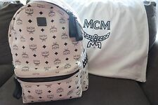 Genuine MCM Backpack Medium Blanc