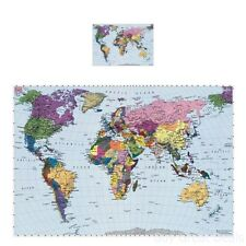 World Map Mural Wall Photo Educational Wallpaper Decor Home Art Room Covering