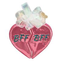 """BFF Hearts"" (30054)X Old World Christmas Glass Ornament"