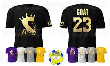Los Angeles Lakers Lebron James LA Bron King GOAT 23 GOLD Men Size S-5XL