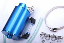 Oil Catch Can 9mm Fittings Universal Breather Tank Blue