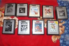 Atari 7800 Game Collection  Lot - 9 Games  - Check The List ->