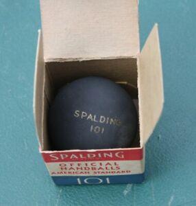 Unused 1940s SPALDING Official 101 Handball & Correct Box