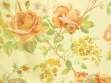 NEW 2.5mtrs VINTAGE SANDERSON ROSETTA furnishing fabric PRIMROSE & APRICOT roses