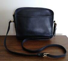 Vintage Coach Metropolis Black Leather  Shoulder / Crossbody Zipper Bag