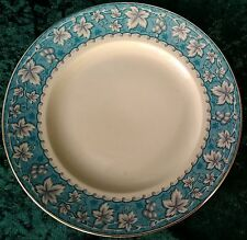 Vintage Burleigh Ware 25cm Dinner Plate Grape Vine Turquoise Burgess & Leigh 40s