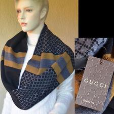 GUCCI Authentic New Diamante Mens Womens Designer Cowl Scarf Snood wool black