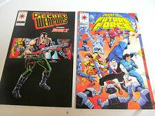 LOT 2 * VALIANT COMICS * FUTURE FORCE * 1992 #9 & SECRET WEAPONS 1994  #11  F/F
