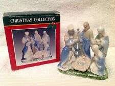 """Christmas Porcelain Nativity Scene Collectible BRAND NEW IN BOX ~ Beautiful~ 4"""""""