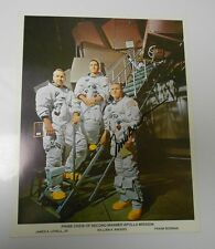 1960's NASA Publicity SPACE Program Signed Autographed Color 8x10 FRANK BOWMAN