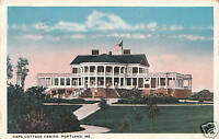 Vintage Postcard Cape Cottage Casino Portland ME