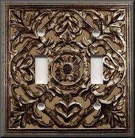 Metal Light Switch Plate Cover Decorative Design Brown Home Decor Switch Plate