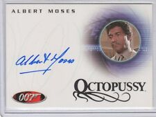 James Bond in Motion Albert Moses auto card