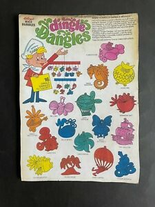 CEREAL TOY R&L DINGLE DANGLES BOX BACK PANEL REPRODUCTION