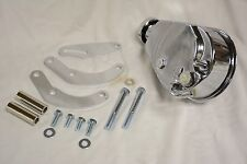 Chrome Saginaw Power Steering Pump & Big Block Chevy SWP Mounting Bracket BBC