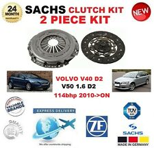 FOR VOLVO V40 D2 V50 1.6 D2 114bhp 2010->ON SACHS 2 PIECE NEW CLUTCH KIT BOXED