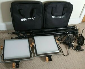 Neewer 2 Pack Dimmable Bi-color 480 LED Video Light and Stand Lighting Kit