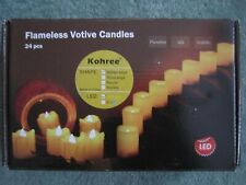24PCS Flameless Votive LED Amber Candles Melted Edge -  Remote control operation
