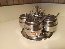 Zepter Stainless Steel Small Condiment Set w 4 Spoons