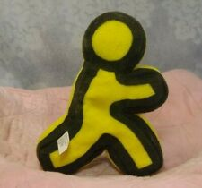 "7"" American Online AOL 9.0 Optimized Yellow Running Stickman Plush Bensussen"