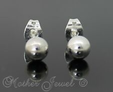 ROUND 6MM BALL STERLING SILVER PLATED MENS GIRLS BOYS STUD LADIES STUDS EARRINGS