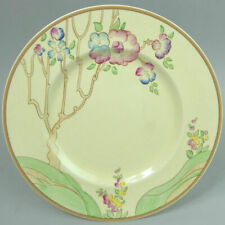 CLARICE CLIFF ART DECO CHIPPENDALE TREES NEWPORT POTTERY 9 INCH PLATE 1930's