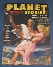 Planet Stories  V2 #4  Fall 1943  Pulp Magazine  Nice