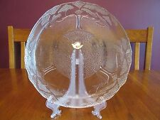 Lovely Tree Of Life Clear Textured Art Glass Platter