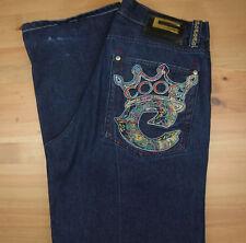 COOGI Australia Mens 34x34 Dark Wash Classic Straight Leg Jeans