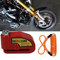 Anti-Theft Disc Brake Lock Motorcycle Bike Use Loud Alarm Wheel Security Hi-Q