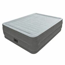 "Queen Size Comfort Air Bed Mattress 22"" with Built-In Electric Pump Raised Guest"