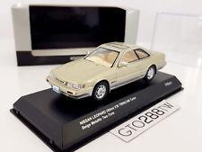 Kyosho 1:43 Nissan Leopard 3.0 Ultima V30 TwinCam Turbo 1988(F31)Beige Two-Tone