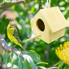 Wooden Bird Breeding Nest Box Parakeet Budgie Cockatiel Cage Nesting Window S