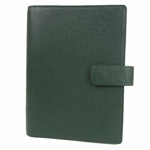 Auth LOUIS VUITTON Taiga Leather Agenda GM Daily Planner Cover Green 19217bkac