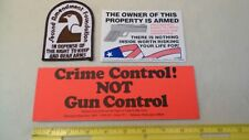 Vintage 1970's Sleeve Patch and Stickers - 2nd Amendment Foundation Gun Rights