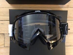 ONEAL B-10 TWO FACE GOGGLE BLACK CLEAR MTB DH MOUNTAIN BIKE VELO