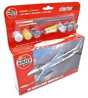 AIRFIX 1:72 DE HAVILLAND VAMPIRE T.11 MODEL AIRCRAFT MEDIUM STARTER SET A55204