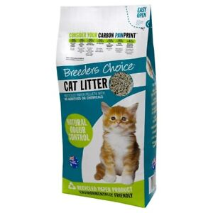 Breeders Choice Recycled Paper Cat Litter Pellets - 15 Litres - Made in AUS