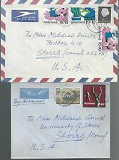 2 Netherlands Covers to  USA