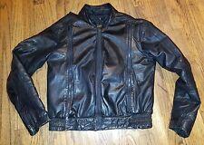 CAFE RACER VTG 1980s Moto Motorcycle Jacket Hein Gericke Leather Black Mens 38